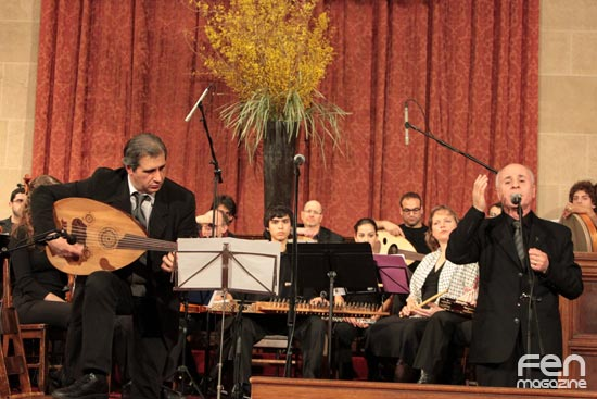 Naji Youssef sings with The New York Arabic Orchestra