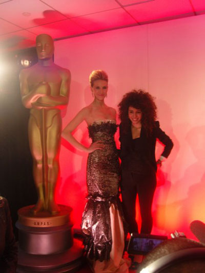 Lebanese designer Rania Salibi and model Jenna Hurt at The Oscars